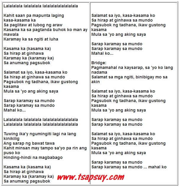 Richard Yap Sings Salamat Lyrics