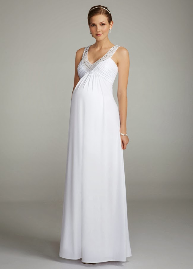 classic silhouette maternity wedding dress