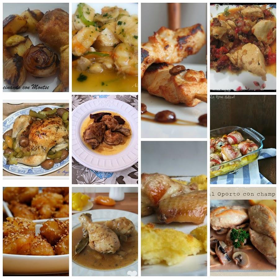 platos baratos y ricos de pollo para navidad