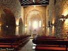 """L'interior de la nau principal amb encavallades de fusta al sostre. Autor: Francesc """"Caminaire"""""""