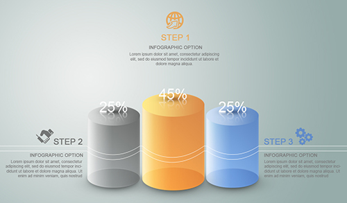 Make Infographic Chart Translucent Cylinder In Photoshop