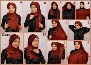 Cara Memakai Jilbab Kreasi Anggun