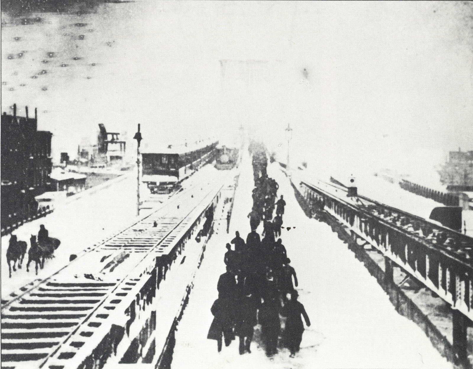 history of the brooklyn bridge • the brooklyn bridge was the first suspension bridge to use steel rather than iron for its cables • cable cars ran in nyc from 1883 to 1909, with the first line opening on the bridge elevated trains ran on the bridge until 1944 trolleys until 1954.