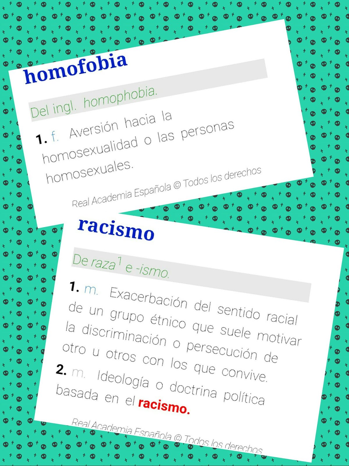 HOMOFOBIA / RACISMO