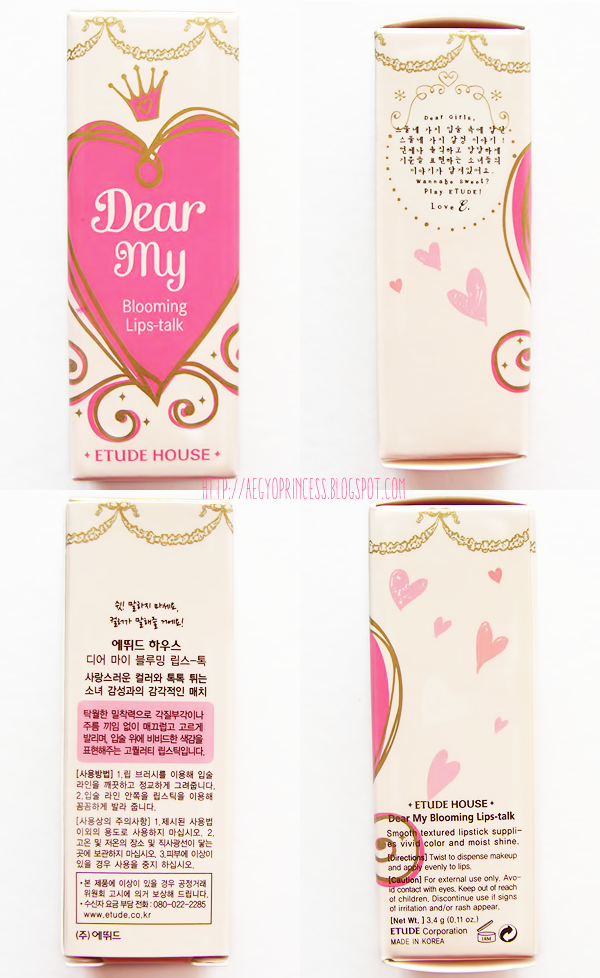 etude house dear my blooming lips talk pink talk