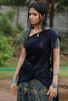 hot, sexy, wet, Sunaina,Black saree