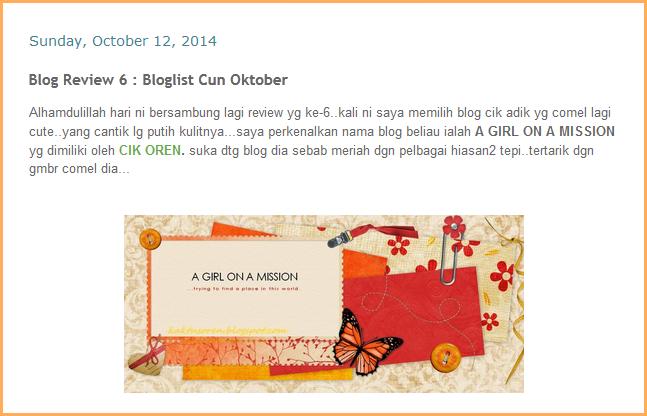 http://nurulasyikinmohdanuar.blogspot.com/2014/10/blog-review-6-bloglist-cun-oktober.html