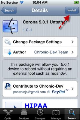 Install Corona Via Cydia Store