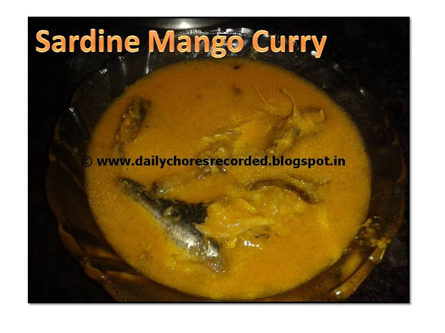 Sardine Curry- with mango