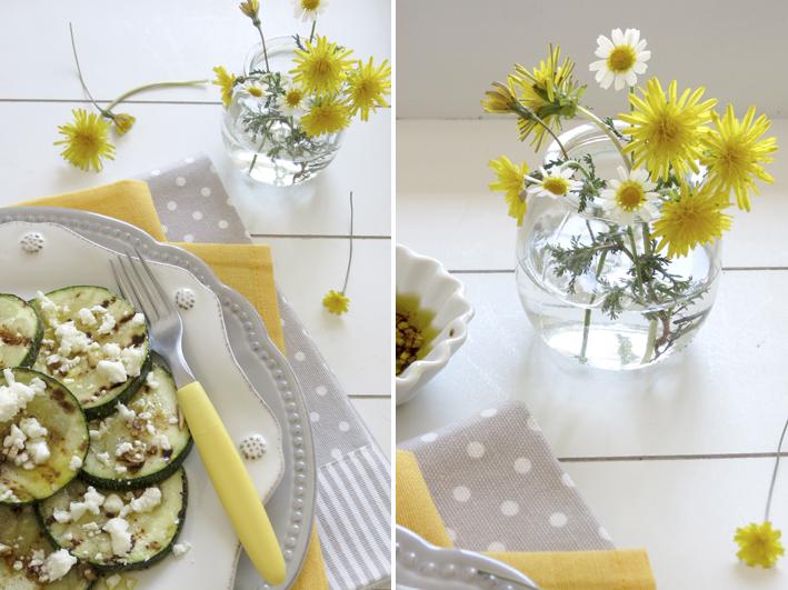 courgette grelhadas com queijo feta