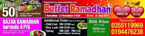 Senarai Buffet Ramadhan Budget RM50 Ke Bawah 2014
