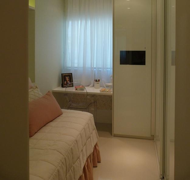 decoracao de apartamentos pequenos femininos:Quarto de menina: pequeno e aconchegante! – Casinha Arrumada