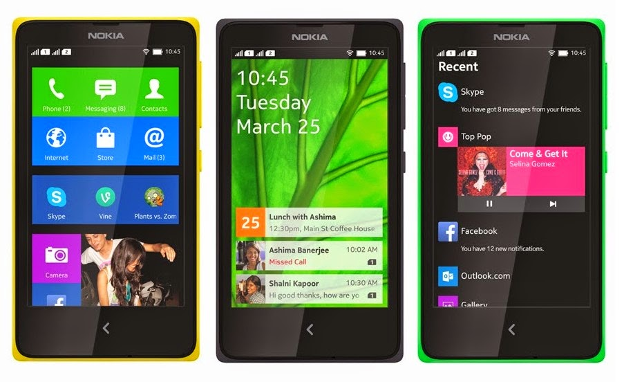 Harga Nokia X, X+ dan XL