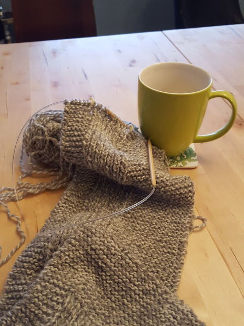 tin can knits wheat scarf
