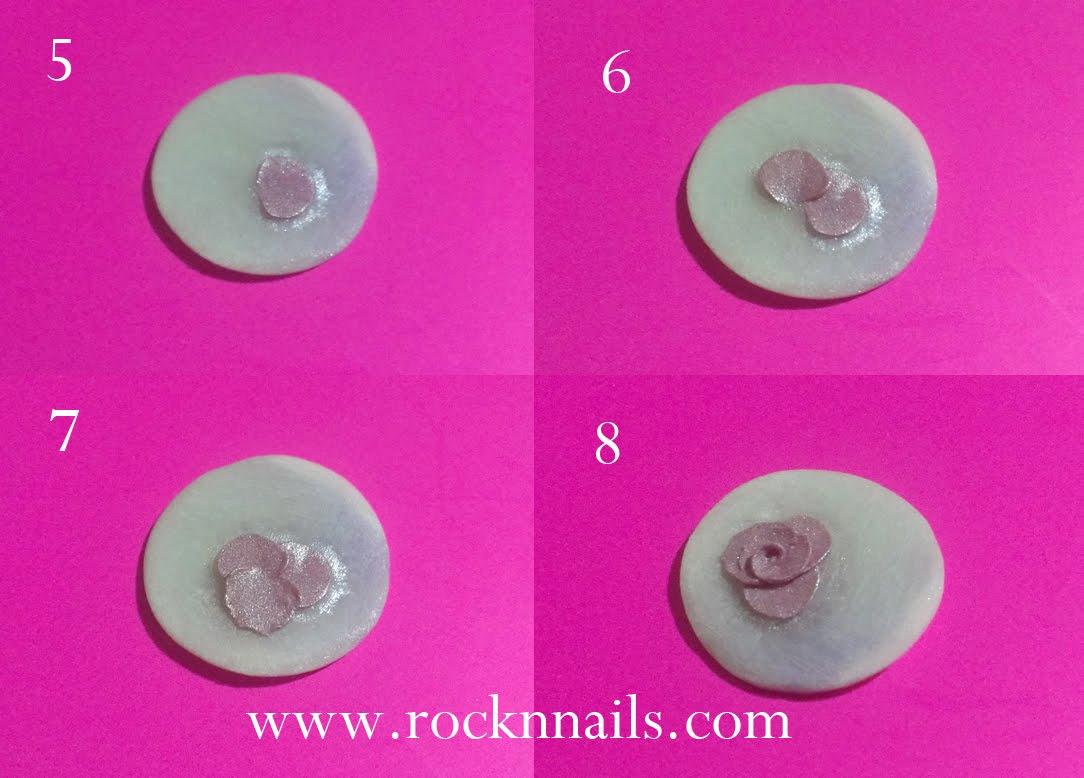 Rock 39 n nails paso a paso anillo de acr lico con flor en - Pintar con acrilicos paso a paso ...