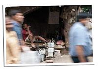 Gente en Calcuta