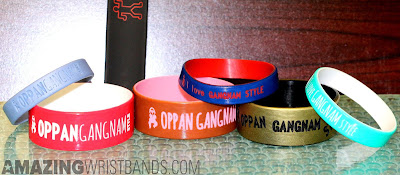 Customized gangnam style silicone wristbands