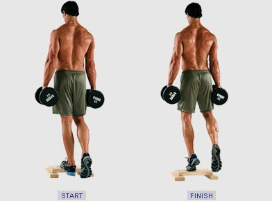 how to build calves with dumbbells