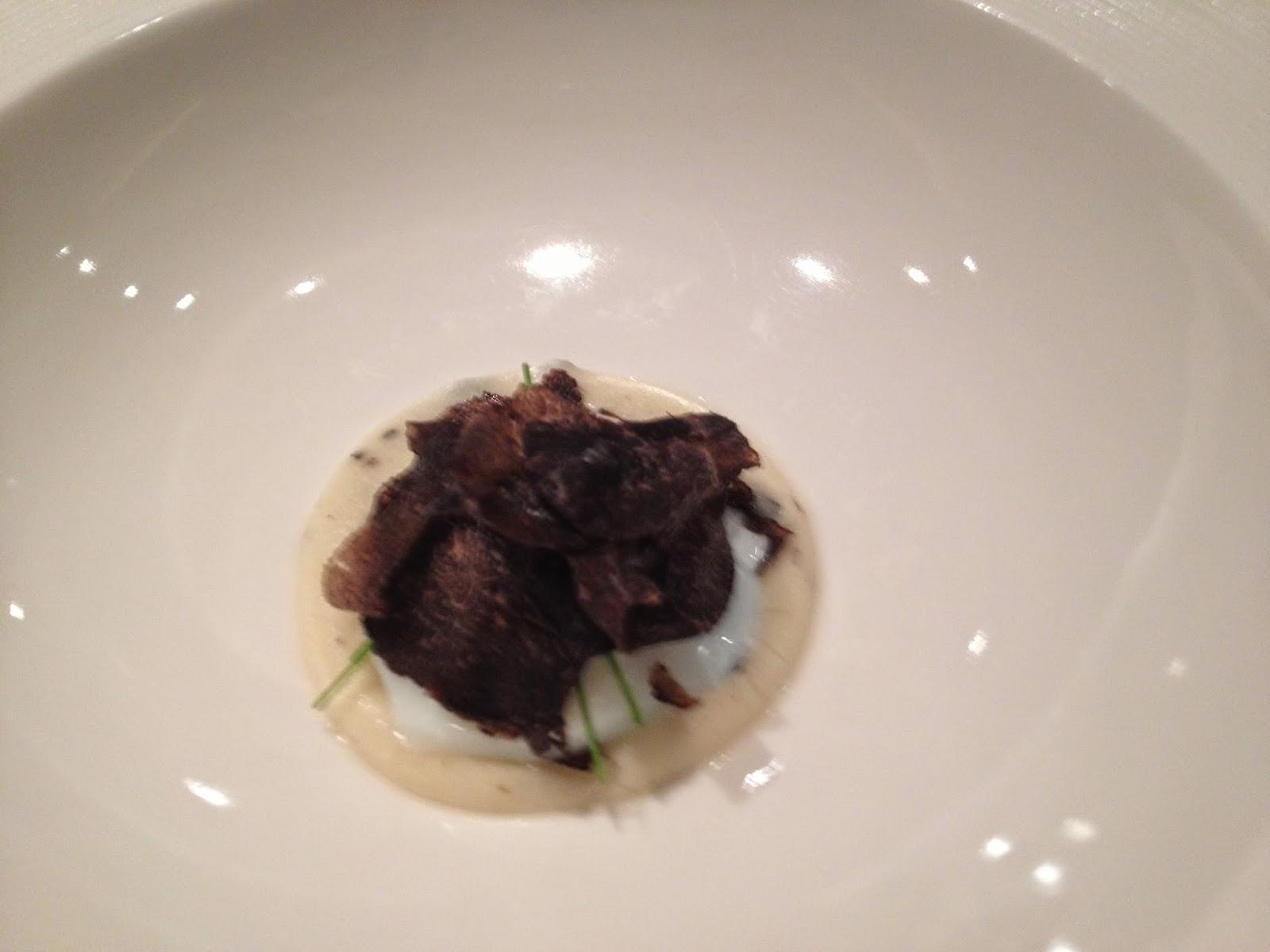 Puree of Potato with Soft Poached Egg, Black Truffle and Oscietra Caviar