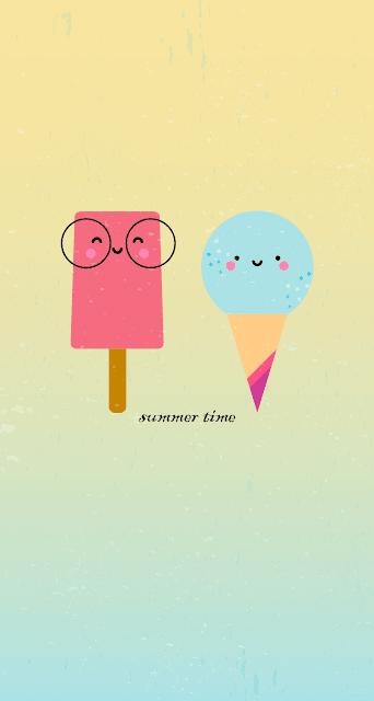 El #feebie del verano: fondo para el móvil de helados