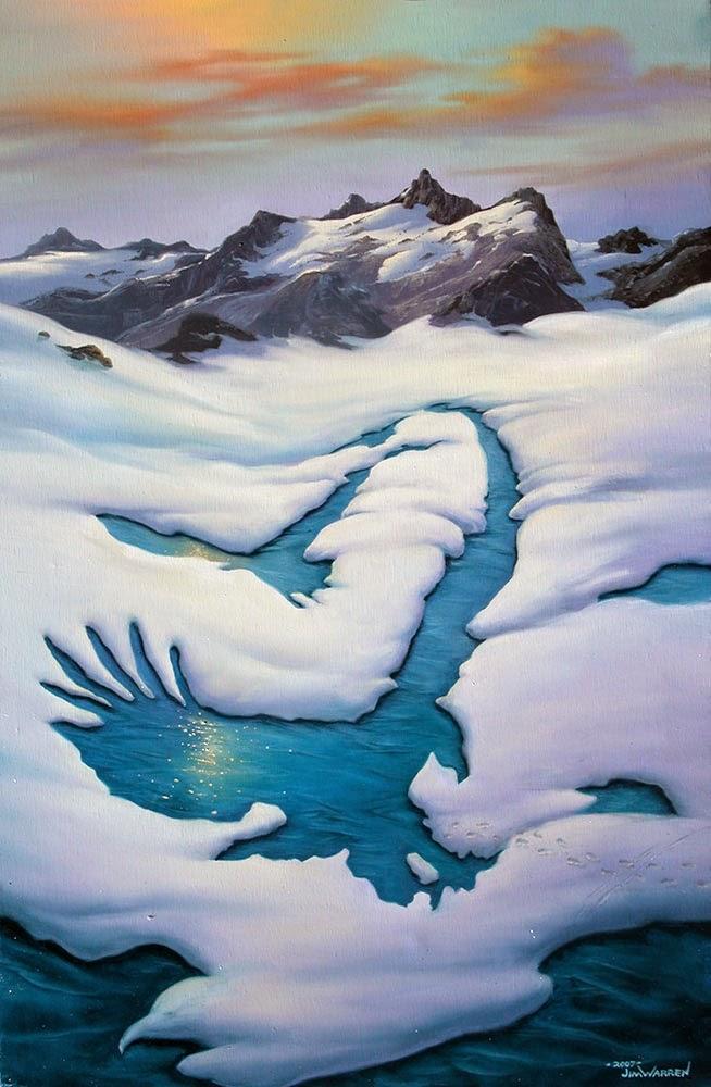 10-Eagles-Landing-Jim-Warren-The-Surreal-Art-of-Dreams-www-designstack-co