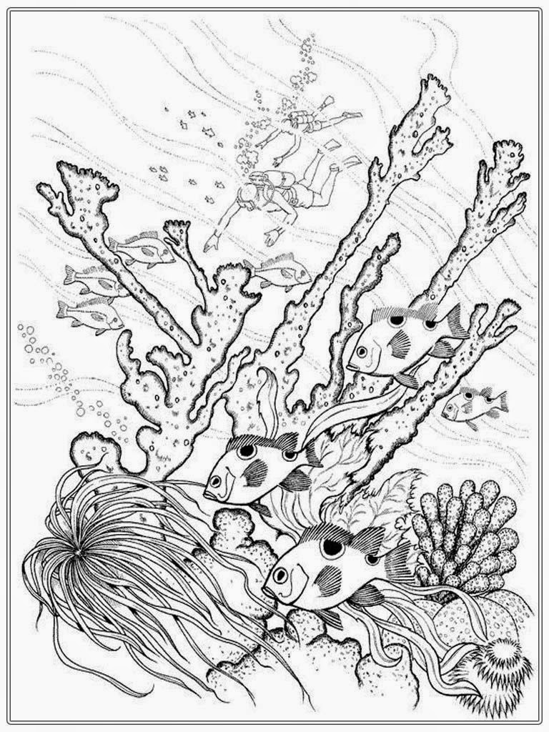 Free Deep Sea Fish Coloring Pages