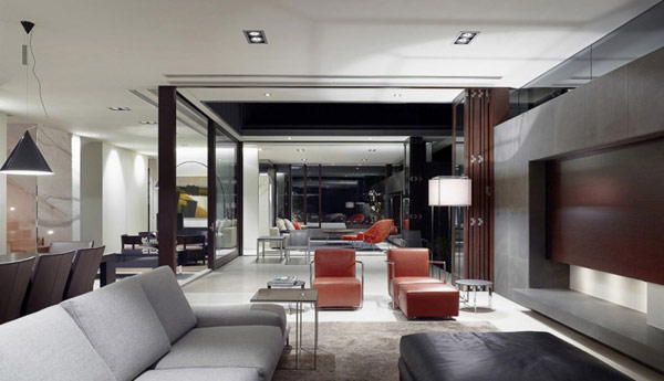 Photo of modern living room interiors