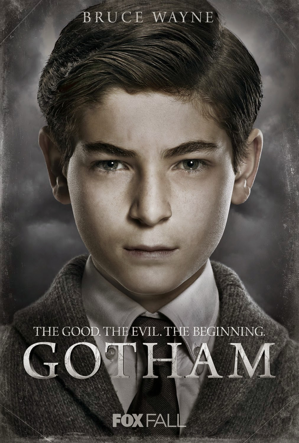"Gotham ""The Good. The Evil. The Beginning."" Character TV Poster Set - David Mazouz as Bruce Wayne"
