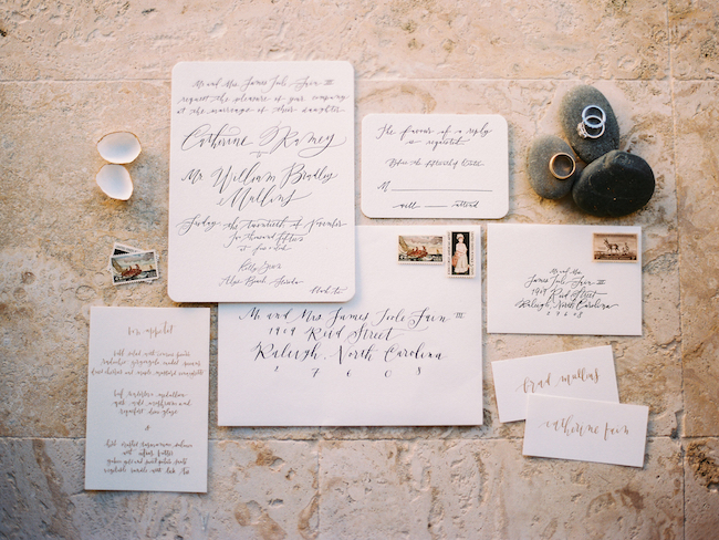 Wedding Invitation Styling Photography Calligraphy