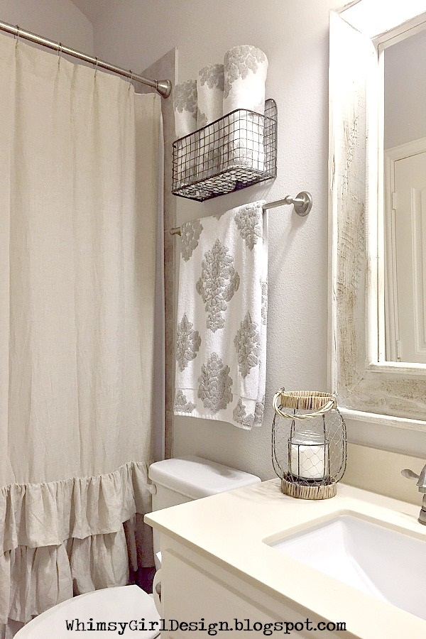 Whimsy Girl Styling Tips Decorative Solutions For Towel Storage