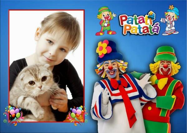 Montagem de fotos com Patati Patatá