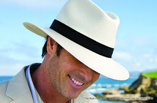 Handsome man wearing equally handsome Panama Hat