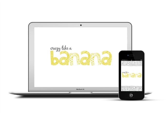 FREE Background Image / Screen Saver | Crazy like a Banana