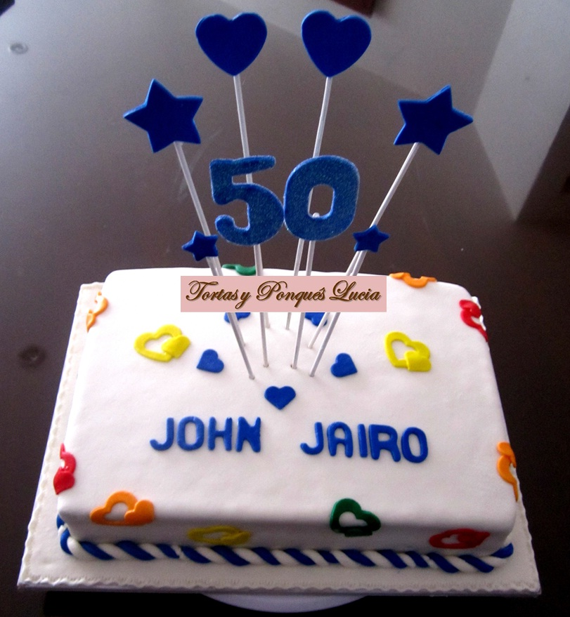 Tortas y ponques lucia torta para cumplea os 50 - Decoracion para 50 cumpleanos ...