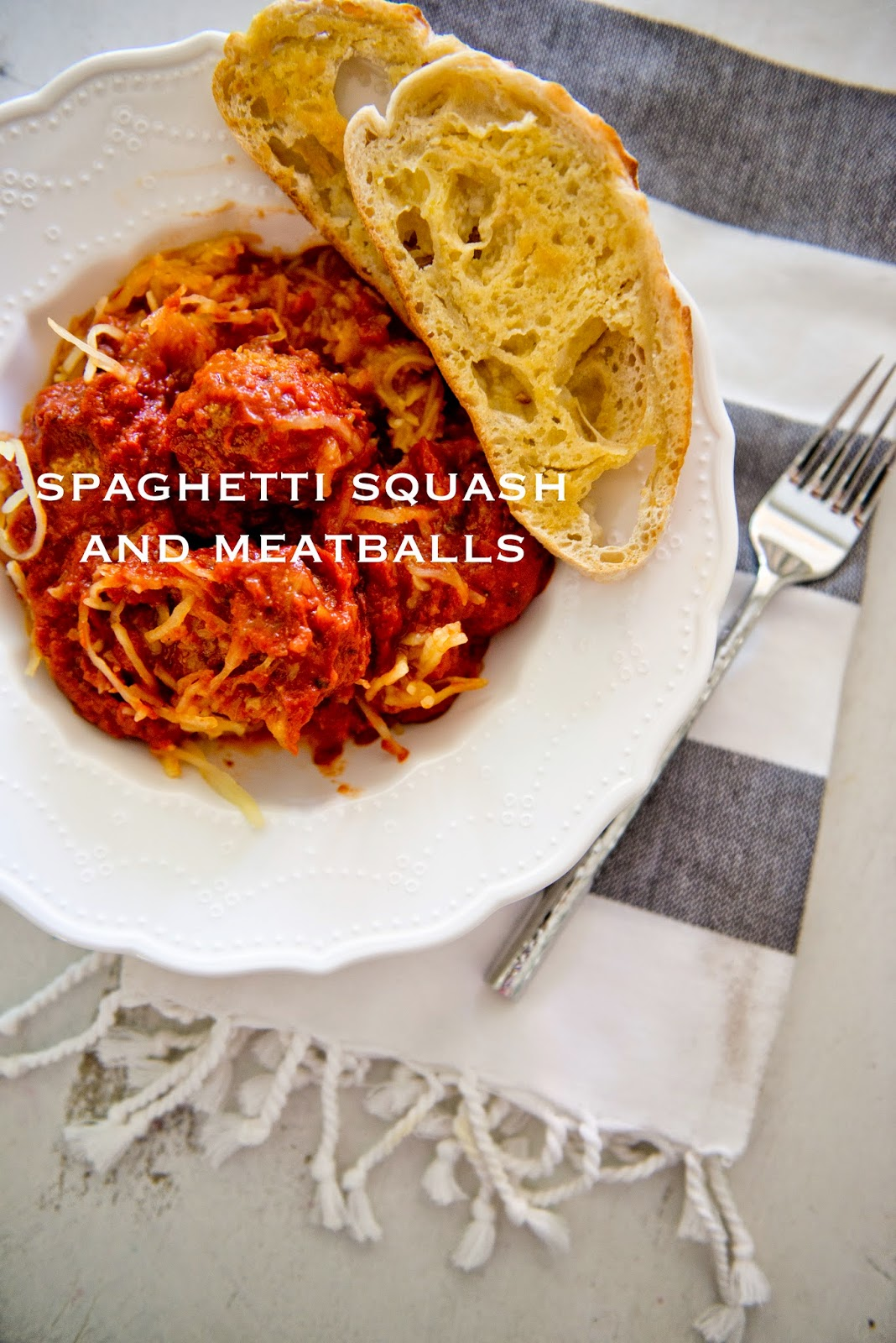 Spaghetti Squash Spaghetti and Meatballs Recipe--using spaghetti squash instead of spaghetti for a healthy spin on this popular comfort food.
