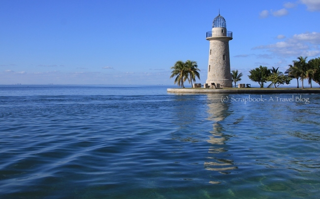 Fake lighthouse at Boca Chita Key in Biscayne National Park