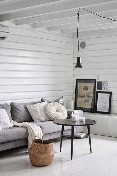 oaza spokoju, styl skandynawski, scandinavian style, biel, spokój, Salon i pokój dzienny,