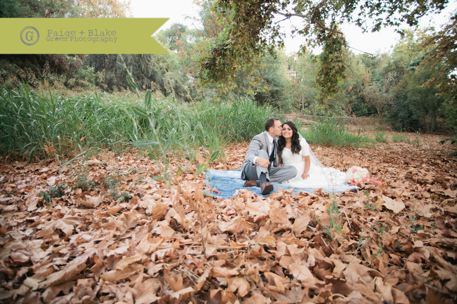 Bride and Groom Picnic, Fall weddings : Photo by Paige and Blake Green