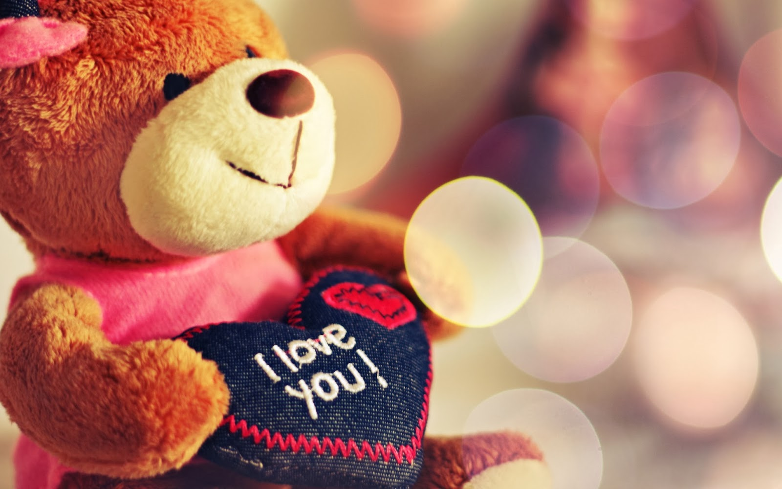 Hot Girl Wallpaper Cute Teddy Bear I Love You Hd Wallpapers