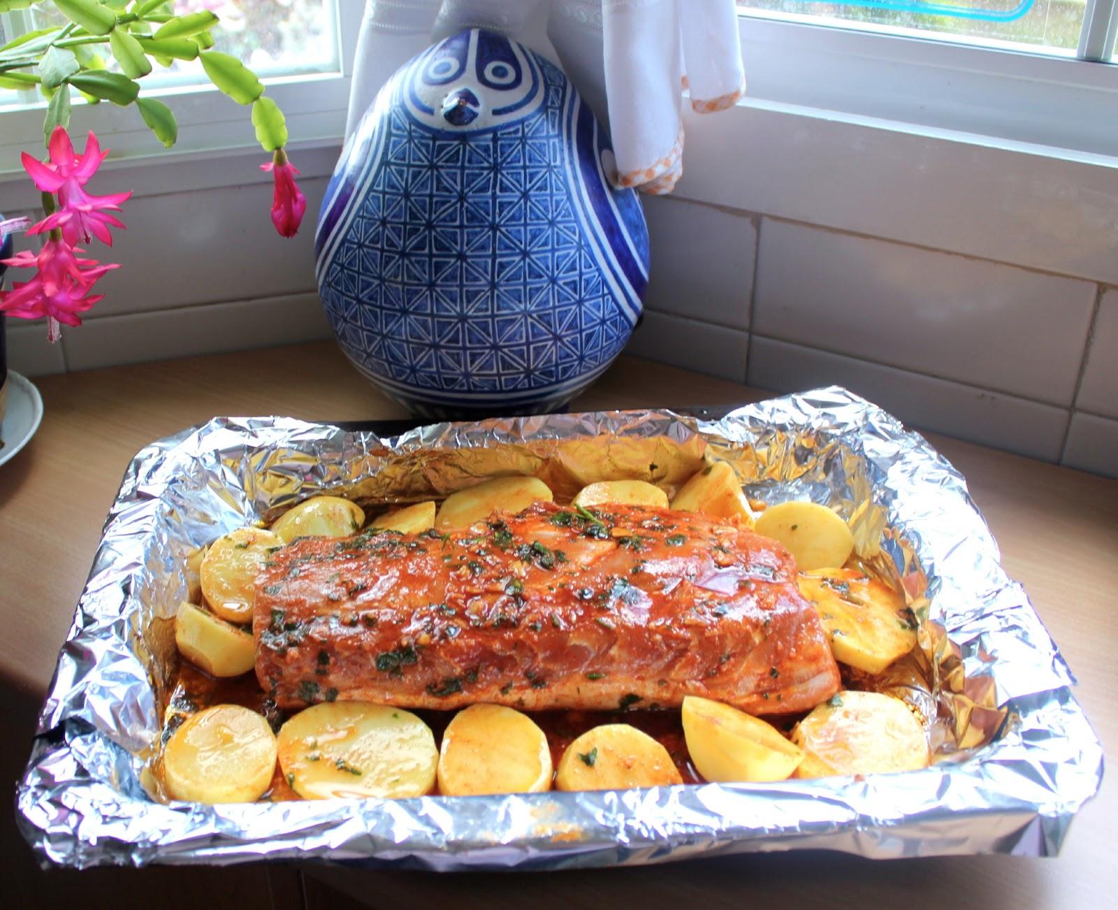 Cocinar es vivir y bordar tambi n cinta de lomo asada con for Cocinar cinta de lomo al horno