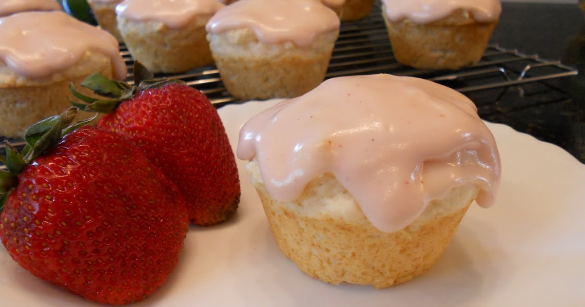 ... the Fun in Food !: Lime Muffins with Strawberry Cream Cheese Glaze