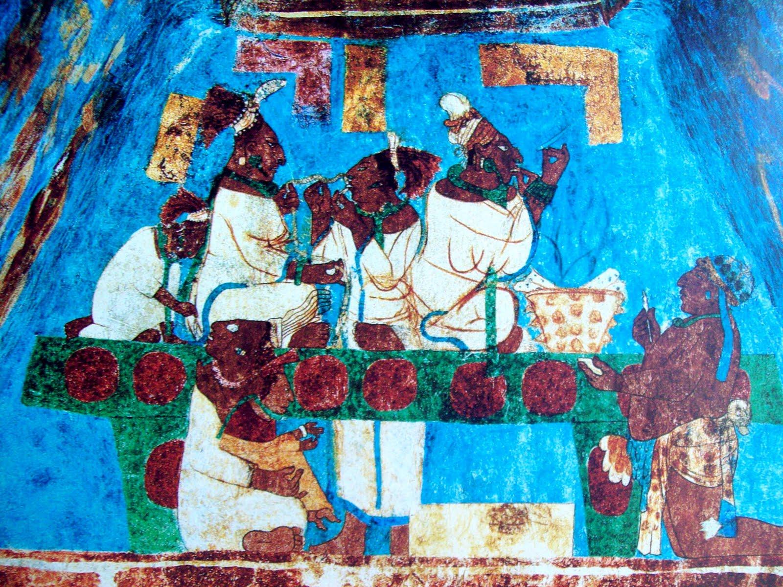 Literatura y mundo maya los murales mayas conferencia for El mural de bonampak