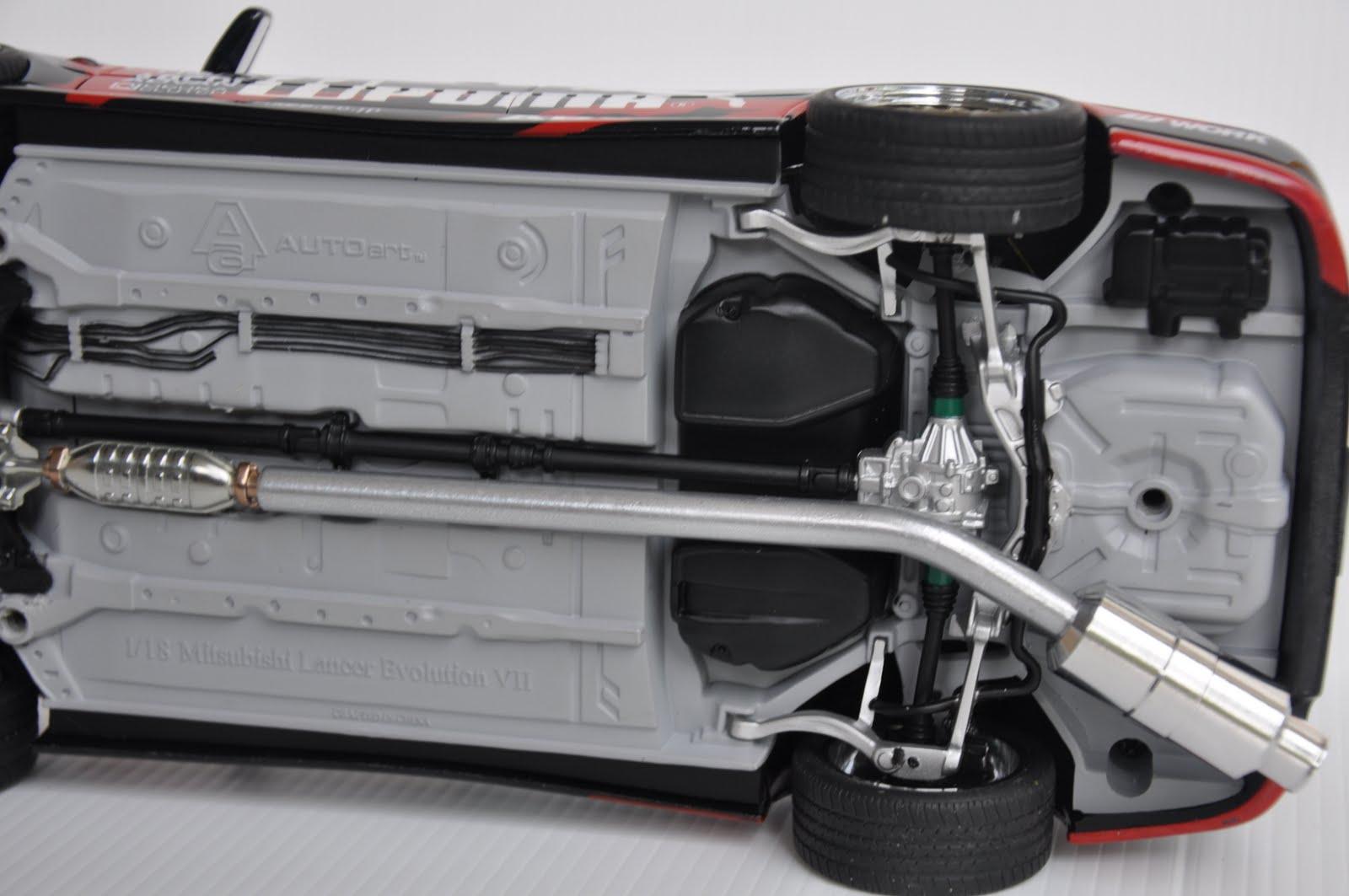 AKID DIECAST WORLD: 1:18 AUTOART MITSUBISHI LANCER EVOLUTION VII STREET CAR - CUSTOM BY AKID GARAGE