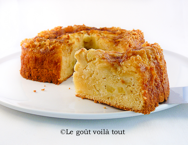Gâteau aux pommes à la normande