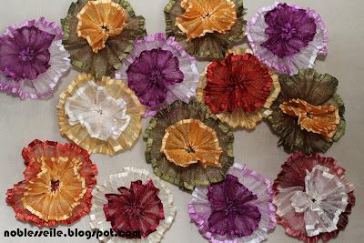 kurdele ile çiçek yapımı