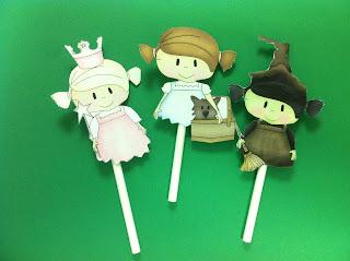 Dorothy cupcake topper, Glinda the Good Cupcake Topper, Wicked Witch of the West Cupcake Toppers
