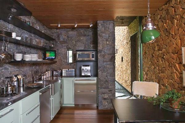model rumah minimalis batu alam modern dan alami