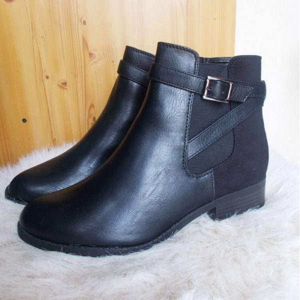New Look black ankle boots