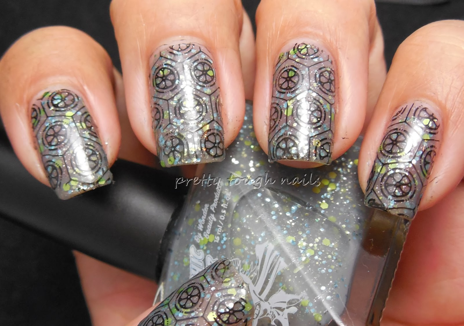 MoYou Stamping Over Superchic Lacquers Ugly Sweater Party