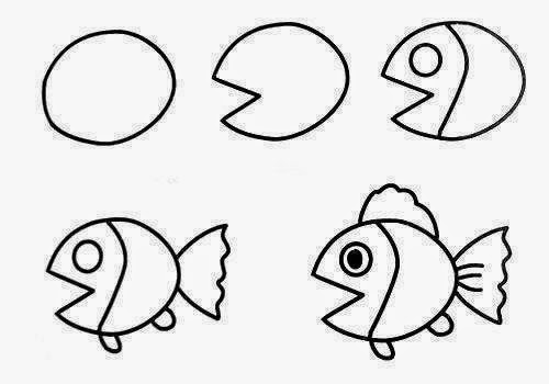 How to draw easy animal figures in simple steps the idea for Easy stuff to draw step by step